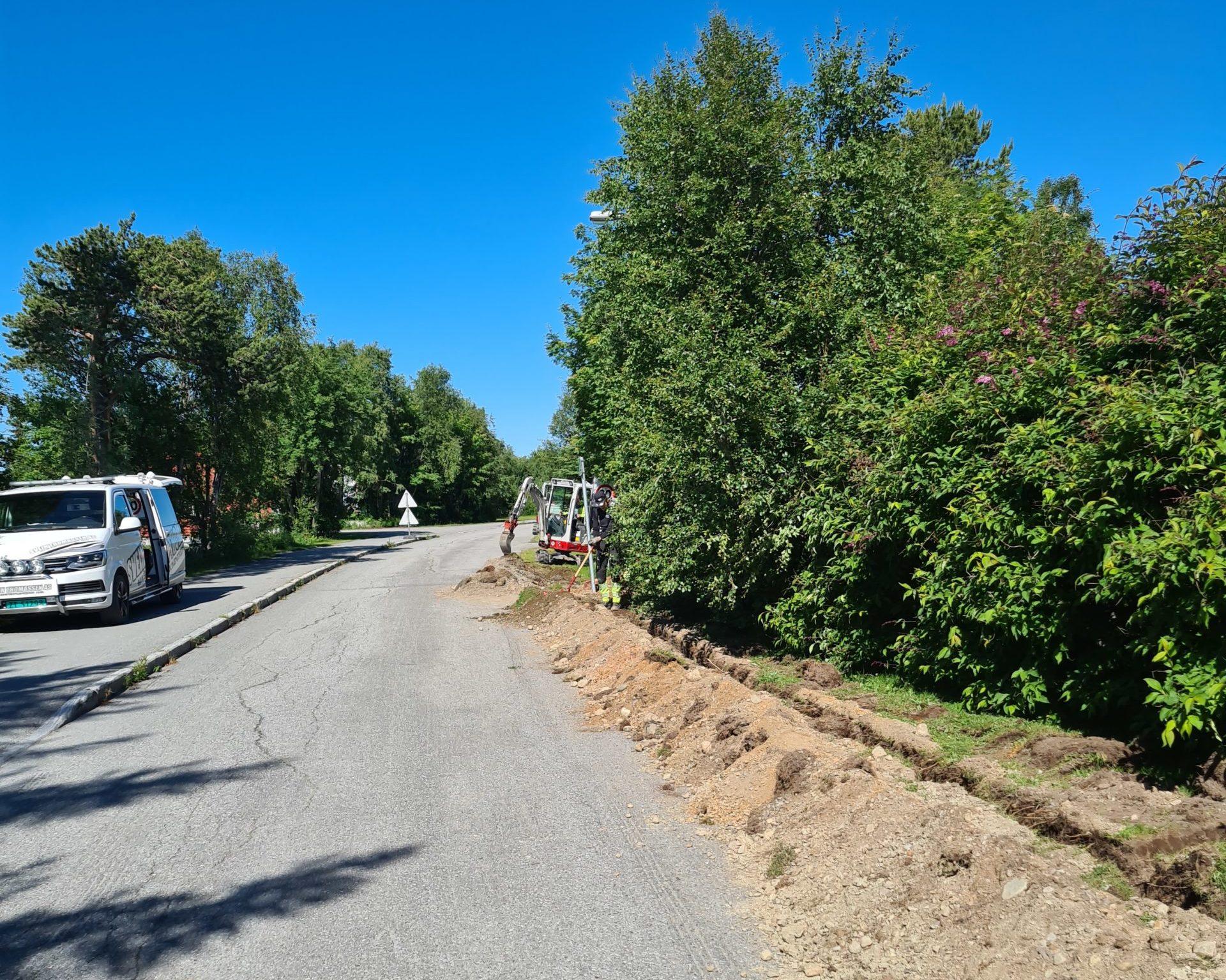 Signl bygger fiber i Bossekop i Alta