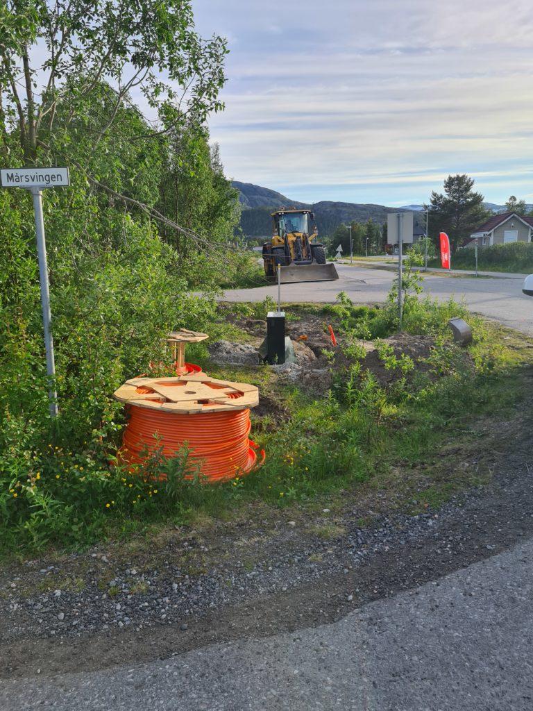 Fiberutbygging i Mårsvingen i Hjemmeluft i Alta