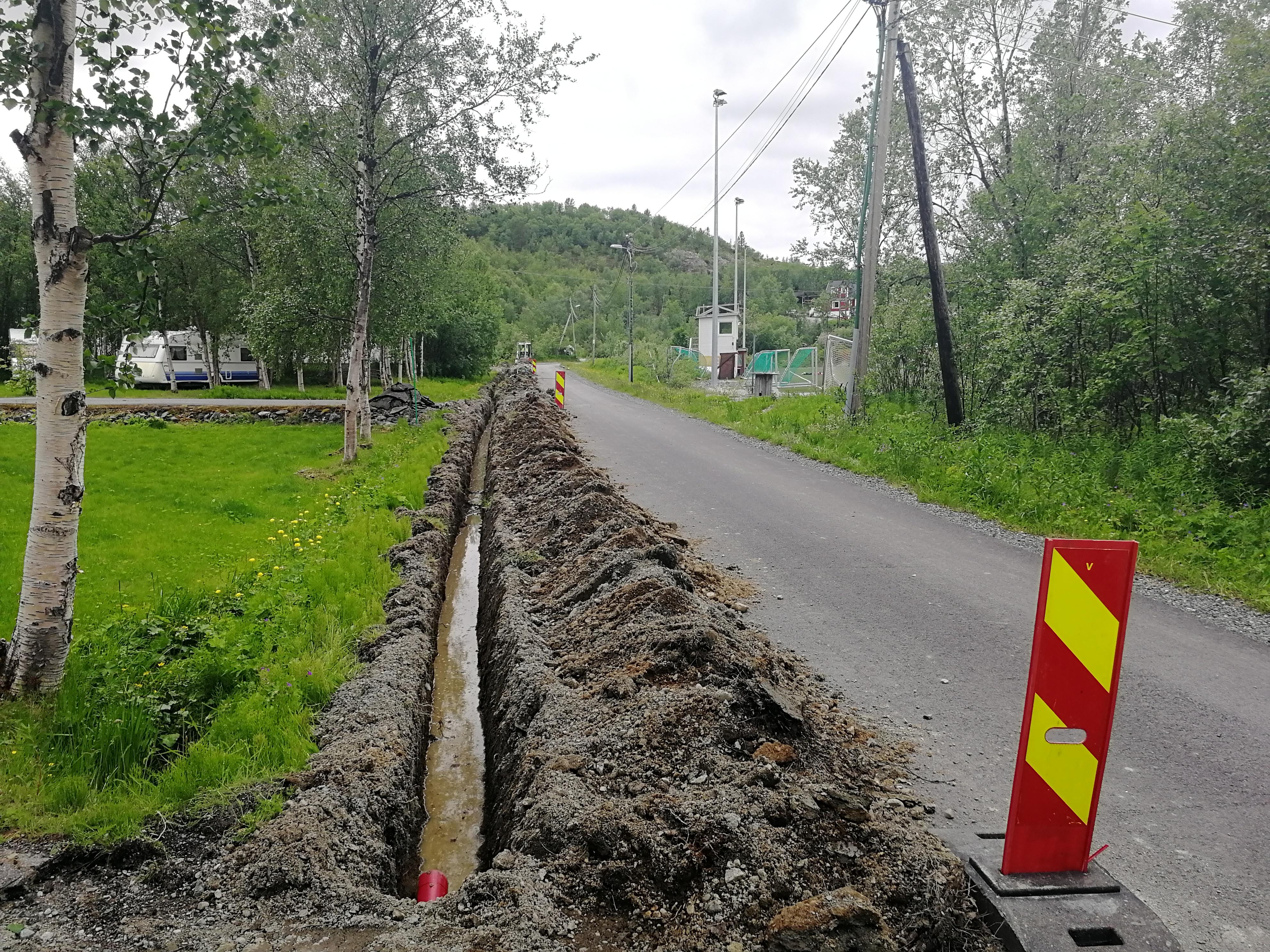fiberutbygging i bjørnevatn og fibergrøft i egne hjems vei