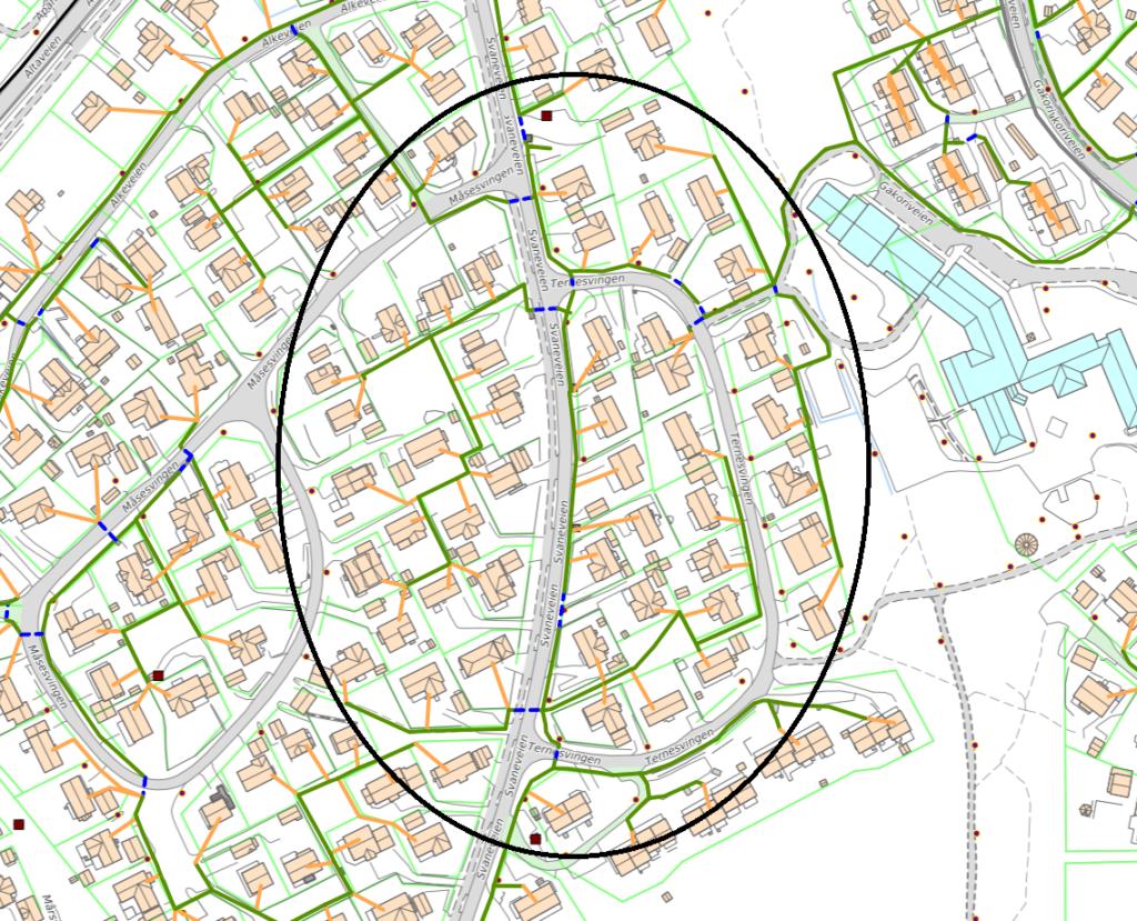 Plan for gravearbeid i Gakori i forbindelse med Signal og Altibox utbygging av fiber