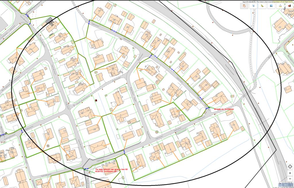 Planlagte gravearbeider i Gakori i forbindelse med fiberutbyggingen i Gakori og Hjemmeluft i Alta