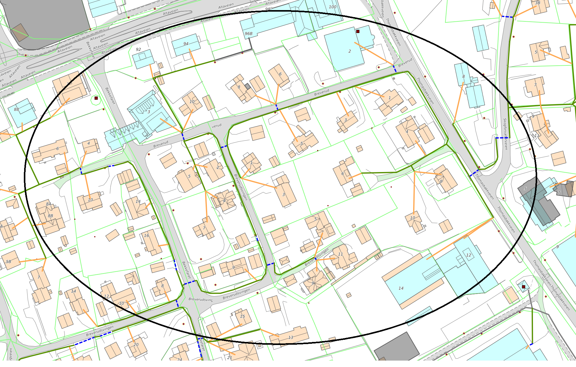 Gravetraseer i Bossekop Sør i forbindelse med Signal og Altibox fiberutbygging i Alta