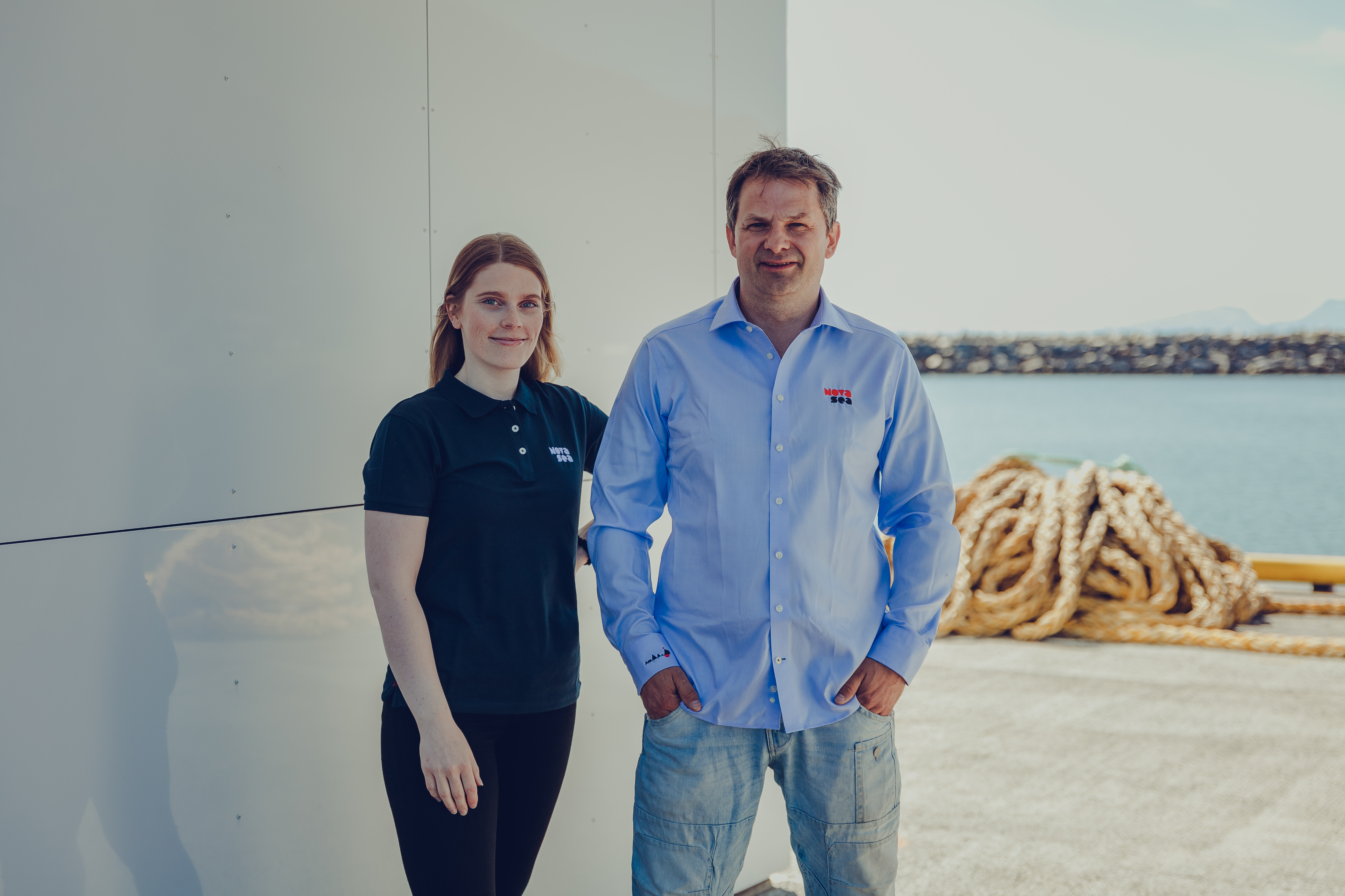 Anette Davidsen og Jan-Erik Johansen fra Nova Sea snakker om hvilken rolle fiberen spiller for en bransje langt ute i havgapet.
