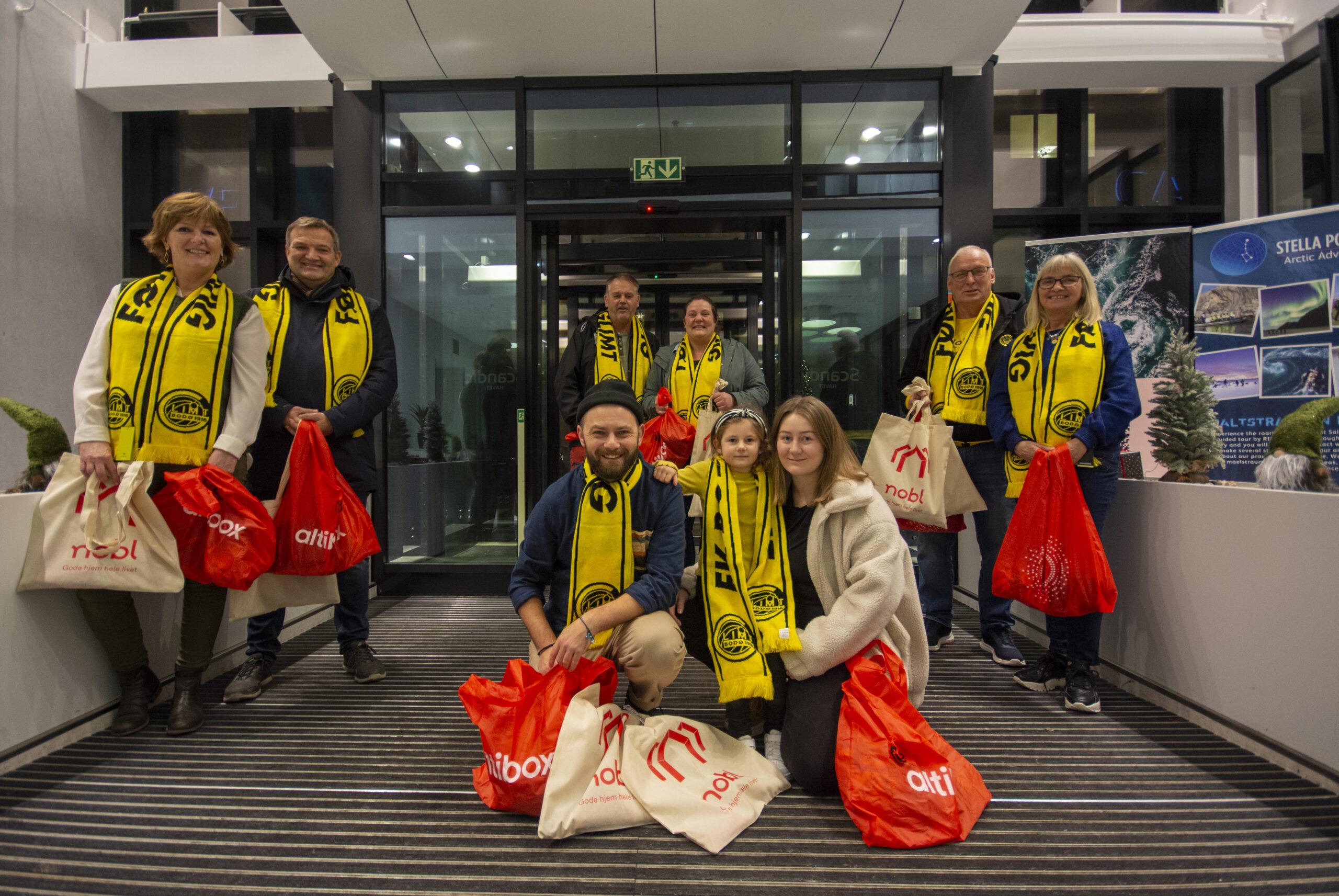 Åtte heldige Bodø/Glimt fans vant glimtbilletter og fikk med seg storoppgjør mot Rosenborg på Aspmyra